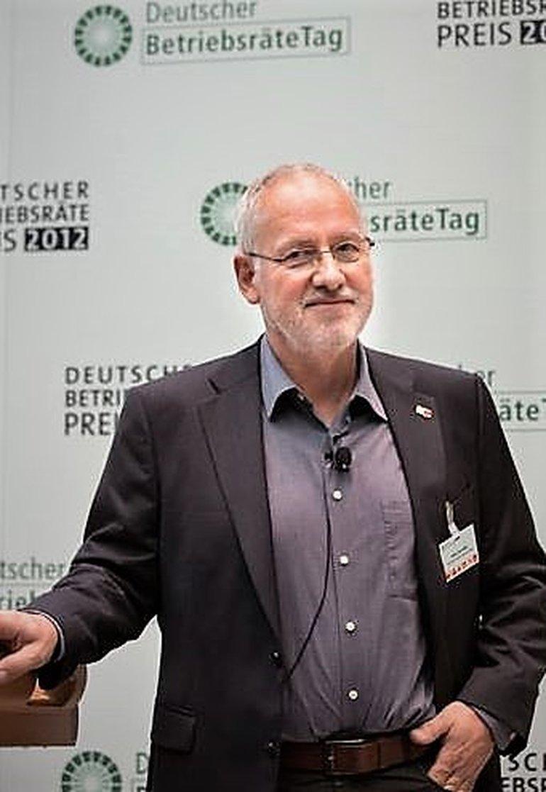 Hans-Uwe (Wilhelm) Ruß auf dem Deutschen Betriebsrätetag 2012
